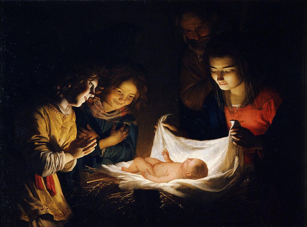 karácsony története - Gerard van Honthorst: A gyermek imádása