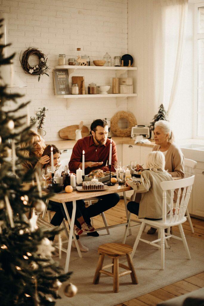 Karácsonyi előkészületek, vacsora